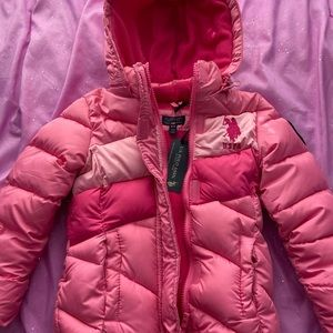 Girls US Polo Association quilted jacket - Sz 5/6